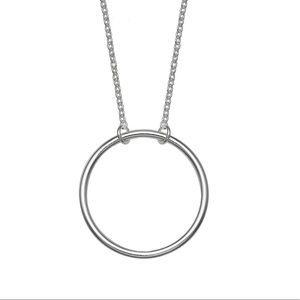 Sterling Silver Polished Circle Necklace